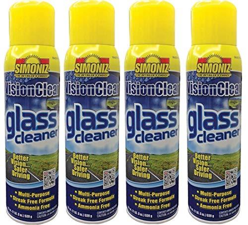 Simoniz Glass Cleaner Aerosol, 19 Oz (Pack of 4)