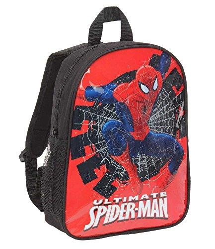 Spiderman Jungen Rucksack - schwarz Schwarz