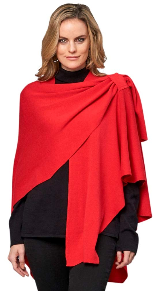 Parkhurst Canada Womens Covi Wrap One Size Fits All, Color Red