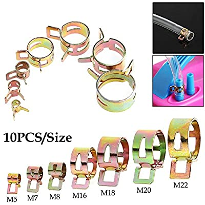 LAYs 10Pcs 5-22mm Pipe Clamps Fastener 65 Mn Spring Steel for Air Hose Tube Water Pipe Fuel Pipe