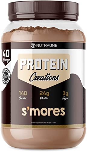 Protein Creations Protein Powder Blend by NutraOne Indulgently Flavored Smores 3.2 lbs.