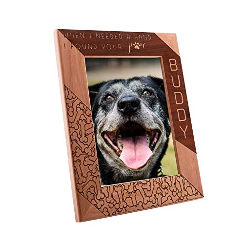 - Personalized Pet Memorial, Customized Picture Frame, Cat and Dog Wood Photo Frame - Custom Frame - Birthday Gift Size Options: 4x6 | 5x7 | 8x10 (PF1)