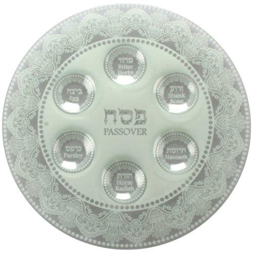 Modern Glass Passover Seder Plate