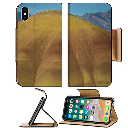 MSD Premium Apple iPhone X Flip Pu Leather Wallet Case Abstract desert shapes and colors in Painted Hills Oregon IMAGE - Desert Premium Hills