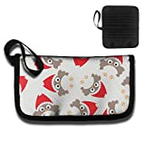 Gili Red Hat Cute Owl Travel Wallet Travel Passport & Document Organizer Zipper