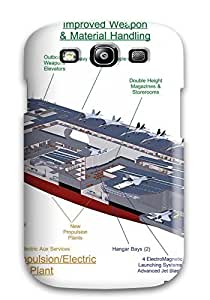 Hot AiwAq2369wdIGw Case Cover Protector For Galaxy S3- Uss Gerald R Ford Aircraft Carrier