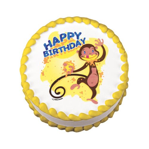 Lucks Edible Image, Monkey Birthday, 12 Count