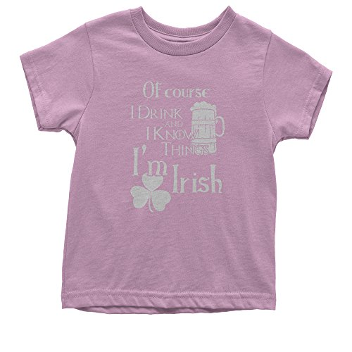 Irish Girl Light T-shirt - FerociTees Youth I Drink I Know I'm Irish T-Shirt Medium Light Pink