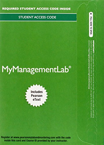 Mylab Management with Pearson Etext -- Access Card -- For Management (My Management -