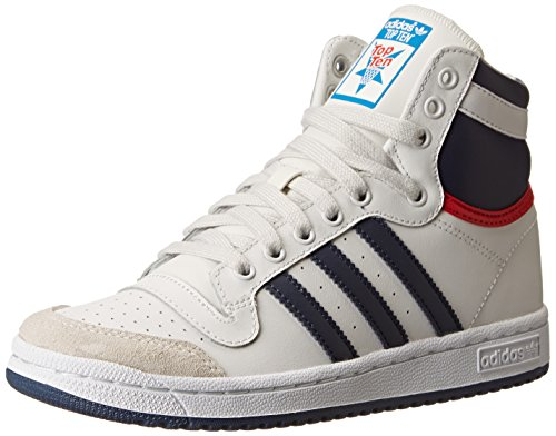 Adidas Top Ten Basketball Shoes - adidas Performance Top Ten Hi J Basketball Shoe (Big Kid), Core White/New Navy/Collegiate Red, 5.5 M US Big Kid