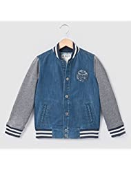 Abcd'r Boys Dual Fabric Bomber Jacket, 3-12 Years Blue Size 3 Years - 37 In.
