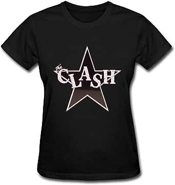 Duanfu The Clash Logo Women's Cotton Short Sleeve T-Shirt