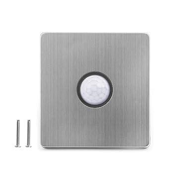 Besttse PIR - Interruptor de luz con sensor de movimiento, cuerpo automático infrarrojo de inducción