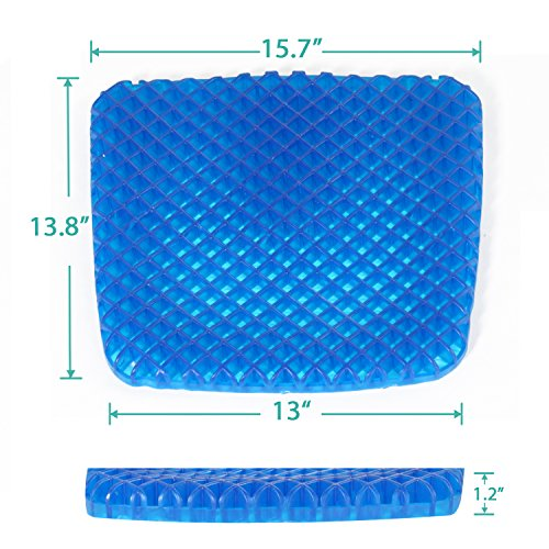 Turquoize Gel Seat Cushion Pain Relief Gel Pad Seat Cushion Honeycomb Design Pressure Absorbs Sitter Elastic Support Chair Pad Office, Dinner, Driving, Wheelchair & Mobility Scooter Cushions by Turquoize (Image #6)