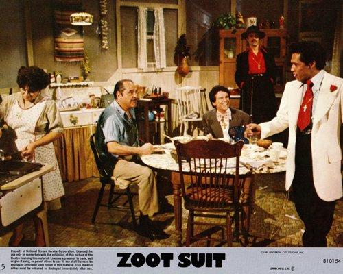 Zoot Suit original lobby card Edward James Olmos in dining room