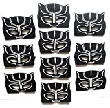 Black Panther Masks For Kids | Birthday | Party Favors | Party Supplies | Pack of 10 | Reusable | Eco Friendly Felt Masks | Great Fit | By InstinctFir