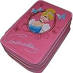 Cartorama-Astuccio-3-Zip-Originale-CENERENTOLA-CINDERELLA-Disney-Princess-Completo-di-46-Pezzi-ROSA