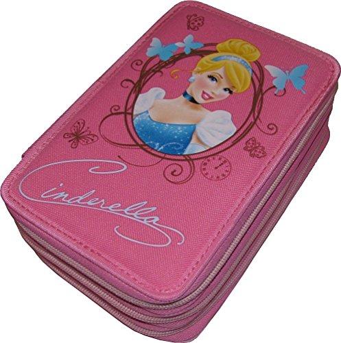 Astuccio Scuola a 3 scomparti di Cenerentola - Cinderella delle Principesse Disney - Completo di 46 Pezzi