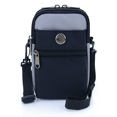 UTIMES Casual Water Resistant Nylon Waist Bag Security Pack Crossbody Phone Pouch for 6 inch Cell Phones(Grey)