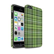 STUFF4 Matte Tough Shock Proof Phone Case for Apple iPhone 4/4S / Irish Plaid/Tartan Design / Green Fashion Collection