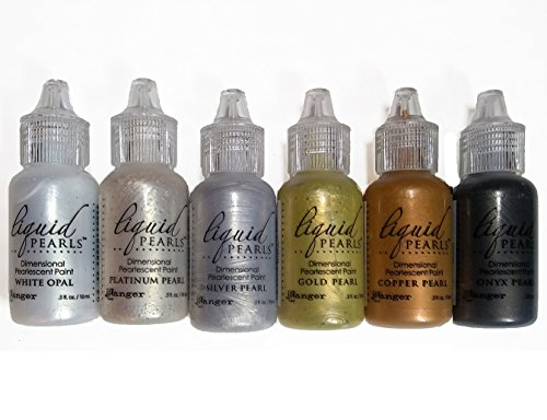(Ranger Liquid Pearls - Dimensional Pearlescent Paint, Set of Six Colors - Metals #2)