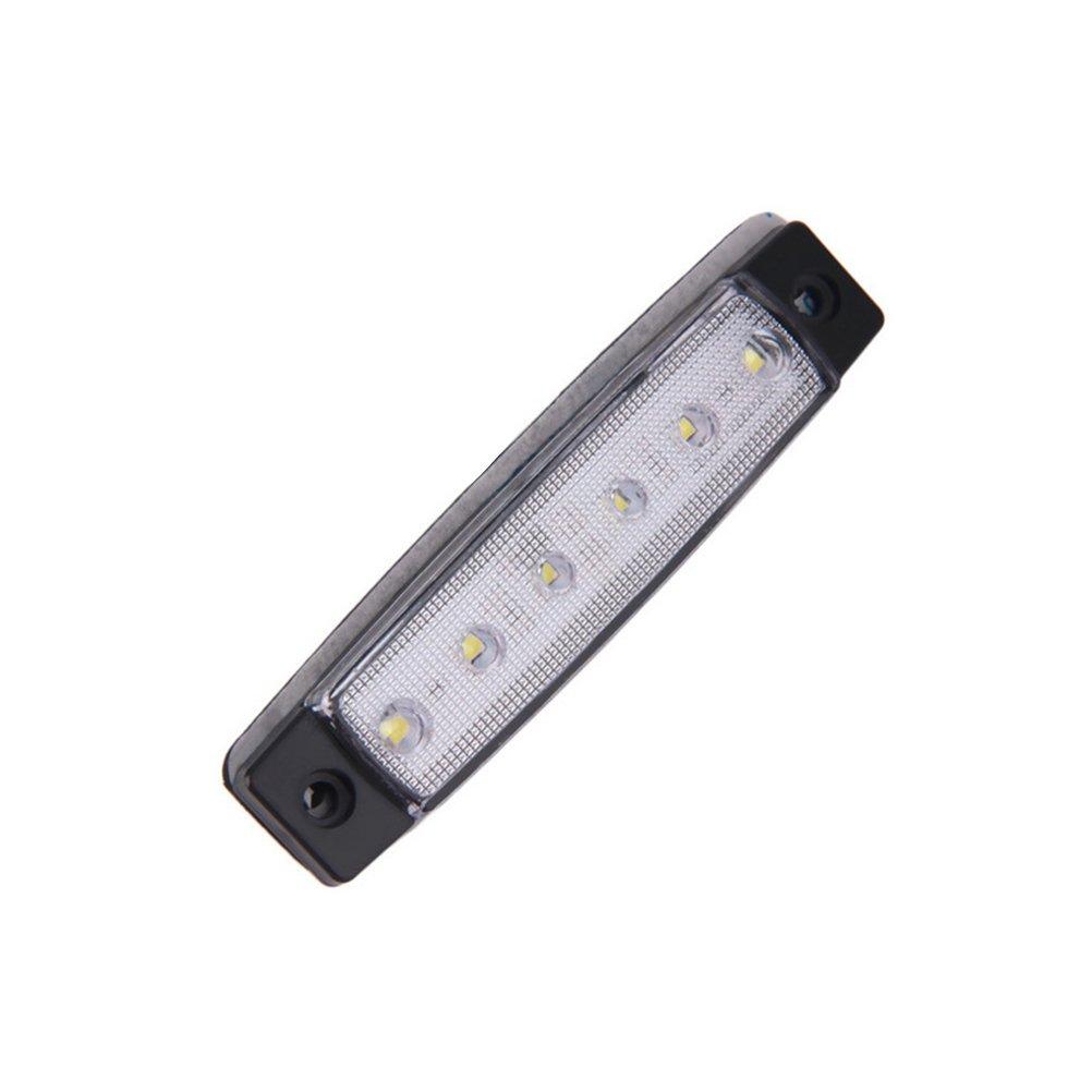 WINOMO Side Marker Light 6 LED 12V Tail Light Brake Light Replacement for Camper Rv Trailer Trunk Red