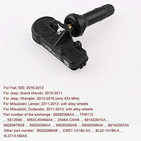 WOVELOT 5Pc Nouveau OEM 56029398Ab 68241067Ab pour Chrysler Jeep Dodge Tpms Capteur De Pression des Pneus