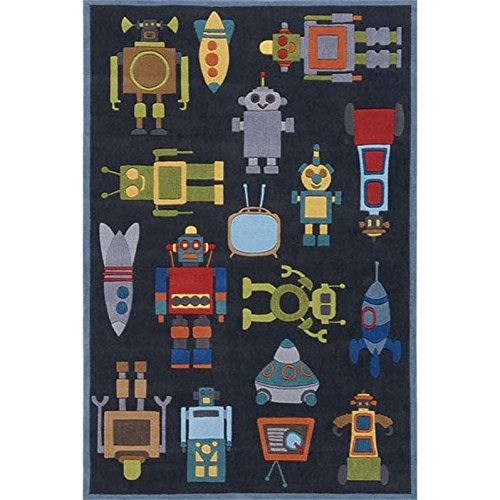 Momeni Lil Mo Whimsy 8' X 10' Rug in Steel Blue