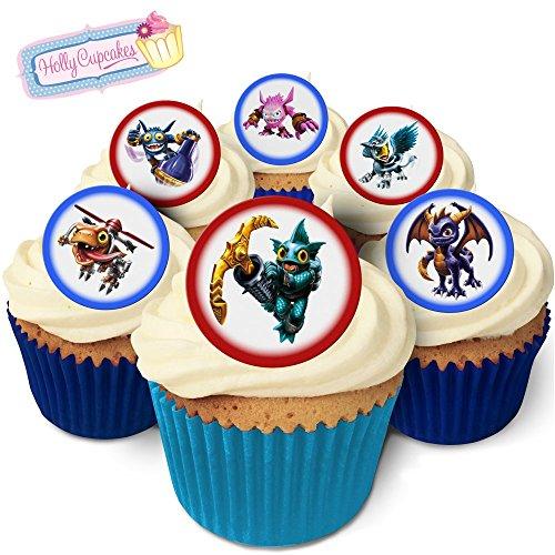 24 Fabulous Edible Pre-Cut Wafer Cake Toppers: Skylanders for $<!--$4.00-->
