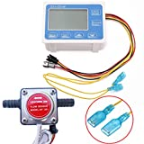 Digital Fuel Oil Flow Meter Flowmeter LCD Display + 13mm Gasoline Gear Flow Sensor DC 12-24V