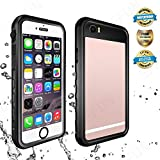EFFUN iPhone 6S Plus/6 Plus Waterproof Case, IP68 Certified Waterproof Underwater Cover Dirtproof Snow/Shock Proof Case with Cell Phone Holder, PH Test Paper, Stylus Pen, Floating Strap Black