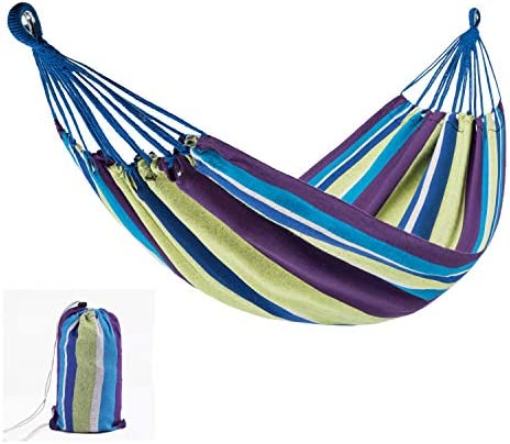 Camping Hammock Portable Parachute Tree Hammock Durable 2 Person Hammock for Outdoor Travel Hiking Backpacking Camping Garden Beach Yard Single Double Hammock
