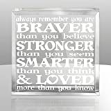 #5: Kate Posh - Always remember you are BRAVER than you believe, STRONGER than you seem, SMARTER than you think & LOVED more than you know - Engraved Keepsake and Paperweight - Christopher Robin to Pooh