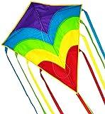 Best Kites For Kids - ZHONGRAN Rainbow Kite/Diamond Kite Easy Flyer and Assemble Review