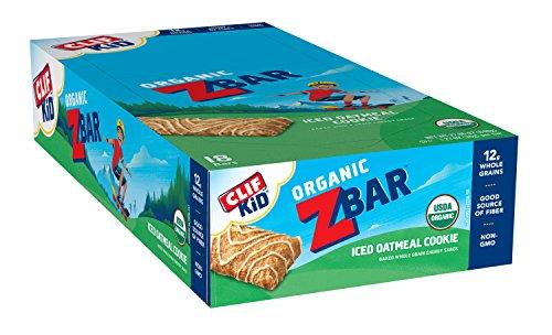 CLIF KID ZBAR - Organic Energy Bar - Iced Oatmeal Cookie - Baked Whole Grain Energy Snack Bar (1.27 Ounce Snack Bar, 18 (Fat Free Vanilla Cookies)