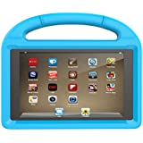 Huaup Shock Proof Case for Fire HD 8 2017/Fire HD 8 2016, Shockproof Convertible Handle Light Weight Protective Stand Kids Case for Fire HD 8 (Fire HD 8 2017/2016, Blue)