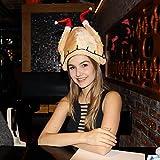 Goetland Light-Up Velvet Roasted Turkey Hat Christmas Thanksgiving Day Costume