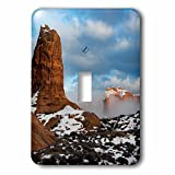 3dRose Danita Delimont - Utah - USA, Utah. Fog descending over eroded cliffs of the Windows Section - Light Switch Covers - single toggle switch (lsp_260317_1)