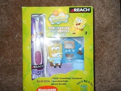 Diseño en forma de diseño de Bob Esponja aspiradora paquete de cepillos de dientes juego de