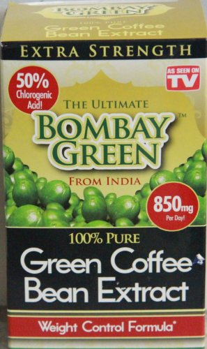 As Seen on TV - 100% Pure Bombay Green from India - 60 Caplets - Pack of Two (120 Total Caplets)