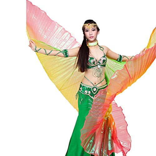 Pilot-trade Lady's Belly Dance Costume 360° Gradient Colorful Isis (Ladies Belly Dance Costumes)