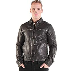 Diesel Men's L-Bunmi Leather Jacket