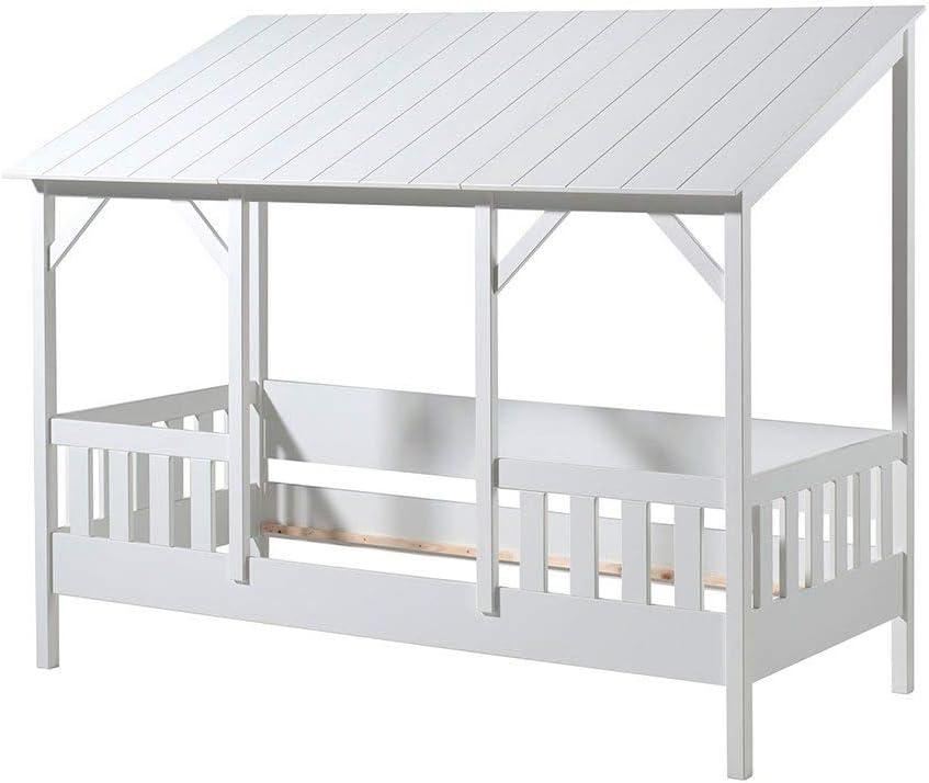 Cuckooland.com Cama para niños, Madera de diseño, Blanco: Amazon.es: Hogar