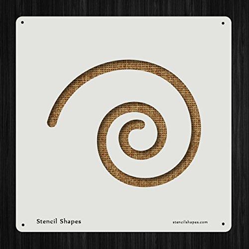 Spiral Tool Simple Shape Line Style 3334 DIY Plastic Stencil Acrylic Mylar Reusable