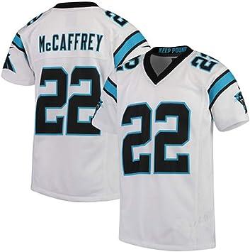 HQIUYI Ropa De Rugby Panthers 22# McCAFFREY Camisa Bordada De Fanático del Fútbol, Camiseta Transpirable De Jersey De Fútbol: Amazon.es: Deportes y aire libre