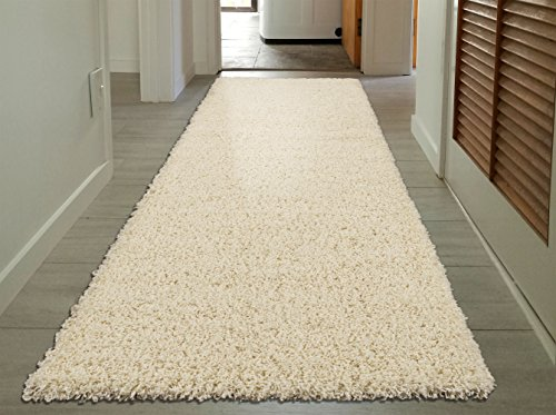 Sweet Home Stores Cozy Shag Collection Cream Solid Shag Rug (2'7