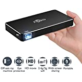 Mobile Pico Video Projector Portable Mini Pocket Size for iPhone and Android,HD Home Theater Cinema Projector with1080P HDMI USB Wifi TF Card