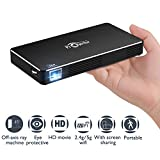 Mobile Pico Video Projector Portable Mini Pocket Size for iPhone and Android,HD Home Theater Cinema Projector with1080P HDMI USB Bluetooth Wifi TF Card