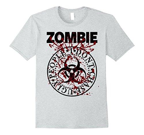 Mens ZOMBIE SHIRT - ZOMBIE HALLOWEEN FANCY DRESS TSHIRT 2XL Heather Grey (Mens Halloween Fancy Dress Idea)