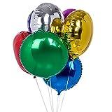Zebratown 50pcs/lot Round Shape Foil Mylar Helium Balloon 18'' Balloon Birthday Party Decoration Foil Balloons